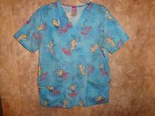 DISNEY TINKER BELL, SCRUB TOP SIZE S (4 POCKETS)