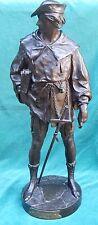 """Emile Louis Picault 19C French Bronze Statue 25""""Height """"Esrholirr"""" Magnificent"""