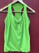 Athleta Tank Top Small Medium Green Workout Shirt Yoga Running Shelf Bra