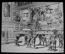 Glass Magic Lantern Slide THE VATICAN - BRONZE TABLES IN LIBRARY C1900 ROME ROMA