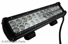 72W 24 Cree LED Flood Beam Work Light Lamp Bar Tractor Truck Boat 4WD 12V
