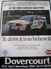 AUDI 80 Quattro anuncio nuevo rally 1983 Campeón Poster Motor Racing GP Formula F1