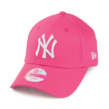 NEW ERA WOMENS 9FORTY BASEBALL CAP.GENUINE NEW YORK YANKEES PINK ADJUSTABLE HAT