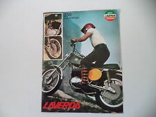 advertising Pubblicità 1973 MOTO LAVERDA 250 2T CROSS