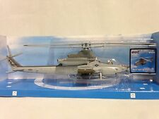 Bell AH-1Z Cobra Helicopter, 1:55 Diecast, Collectibles,W/Stand By New Ray Toys