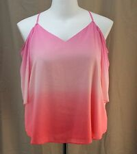a.n.a., XL, Cape Coral Ombre Open Shoulder Top, New with Tags