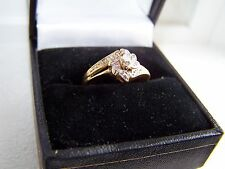 10K Gold & Diamond Ring .Approx Size 5.
