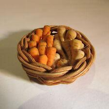 Cesta ~ con verduras ~ muñeca casa miniatura ~ 1/12th Escala