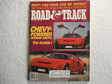 Road & Track December 1986 Celica GT-S Integra Scirocco Chev powered Kodiak