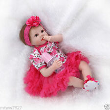 22'' Soft Vinyl Real Life Like Reborn Baby Doll Silicone Newborn Dolls red skirt