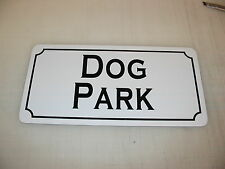 DOG PARK Metal Sign 4 House Pet Carrier Training Bed Tv Movie Prop Cosplay