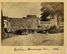 Gateway, Ahmedabad Fort, India. 1882 . Albumen Print