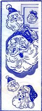 Vintage Embroidery transfer repo 513 Christmas Santa for Mail Bag Aprons Cloths
