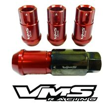 20PC VMS RACING CHEVY CORVETTE C4 C5 C6 12X1.5MM ALUMINUM LOCK LUG NUT SET RED