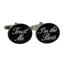 Trust Me I'm The Boss Cufflinks in Gift Box manager senior director foreman BNIB