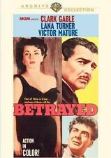 Betrayed (1954),New DVD, Clark Gable, Lana Turner, Victor Mature, Gottfried Rein