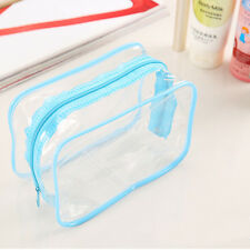 Clear Transparent Plastic PVC Travel Cosmetic Make Up Toiletry Bag Zip Pouch K15