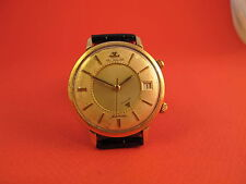 LECOULTRE JUMBO AUTOMATIC CALENDAR MEMOVOX 4X SIGNED VINTAGE MENS WATCH