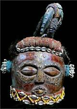 Old Tribal Kuba Kete Helmet Mask - D R Congo