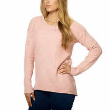 Calvin Klein Women's Crew Neck Hi-Low Sweater Pink US Size XXL NWT