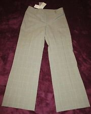 BEIGE LIGHT CHECK TROUSERS BY PRINCIPLES SIZE 12 PETITE BNWT - SEE MEASUREMENTS