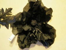 """Vtg Millinery Flower 5"""" Poppy Black for Trim for Hat Wedding or Hair Drama K59"""
