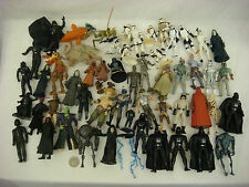 VINTAGE STAR WARS LOT MINI FIGURES 58 PIECES VADER PALPATINE BANTHA BIGGER FISH+