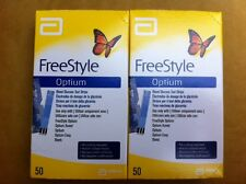 Freestyle Optium 100 Blood Glucose Test Strips (FREE P&P)