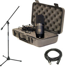 MXL 770 Condenser Microphone with Shockmount & Case w/ Mic Boom Stand & XLR