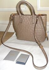 FAB! NEW NWT $4680 TOM FORD Ostrich Side Zipper Jennifer Crossbody TopHandle BAG