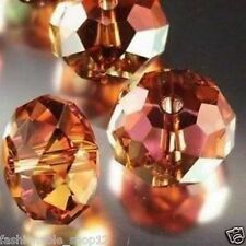 300pcs Orange +AB Crystal Loose Beads 3x4mm