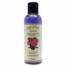 Magic Of India Lavender Herbal Massage Essential Oil For Full Body - 100 ml