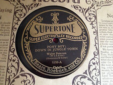SUPERTONE Old store Stock MINTY 1920's Victrola 78 rpm record Walter Peterson