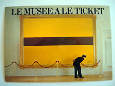 CARTE POSTALE PUBLICITAIRE 1983 LE MUSEE A LE TICKET DE METRO PARIS RATP