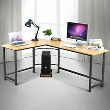Modern Wood Corner Computer PC Desk Home Office Study Writing Table Workstation