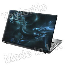 "17"" Laptop Skin Sticker Decal Blue Dragon in Water 60"