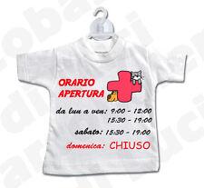 MINI T-SHIRT cartello ORARIO APERTURA CHIUSURA clinica veterinario PERSONALIZZAT