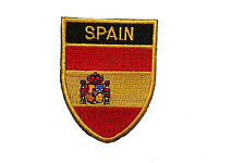 SPAIN COUNTRY FLAG OVAL SHIELD FLAG EMBROIDERED IRON-ON PATCH CREST BADGE