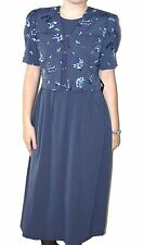 NEW Mis Dorby Short Sleeve Floral Print Dress Size 10 Made in USA