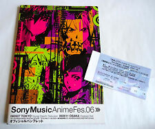 Sony Music Anime Fes 2006 JAPAN PROGRAM BOOK w/Ticket Gundam Seed Eureka Seven