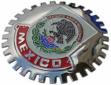 Mexico, Mexican crest car grille badge c/w hardware