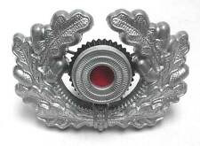 German Wreath Cockade Aluminium Metal Army Heer Visor Cap Hat Badge WW2 WWII