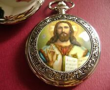 "Holy Jesus Sacred Heart quartz watch catholic  2""  Men's Women Religion Gift"