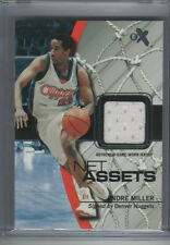 2003-04 E-X EX NET ASSETS GAME USED JERSEY ANDRE MILLER LOS ANGELES CLIPPERS HOF