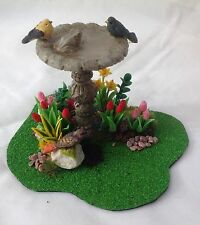 Dolls House Miniatures - Garden Bird Table Scene