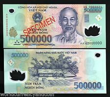 VIETNAM 500000 DONG P124 *SPECIMEN* POLYMER HCM UNC CURRENCY MONEY BILL BANKNOTE