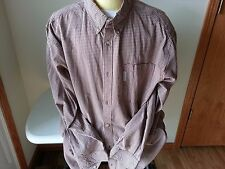 Columbia rust and white check long sleeve button down - mens XXL