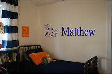 Dinosaur & Personalized Name Wall Sticker Wall Art Decor Boys Bedroom Name