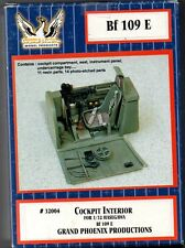 GRAND PHOENIX MODEL PRODUCTS 32004 - Bf 109 E COCKPIT INTERIOR 1/32 RESIN KIT