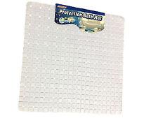 Carrée blanche antidérapante deluxe bain/douche tapis, pvc, bulle effet anti glisse